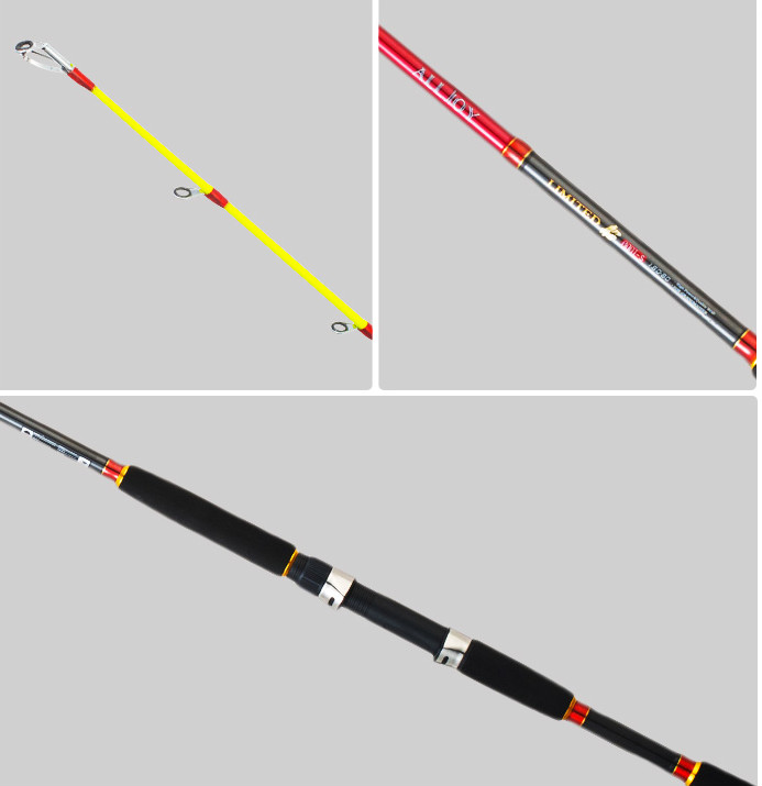 New style portable carbon material superhard 1 pcs/Lot 1.8/2.1/2.4 m fishing boatraft rod spinning rod