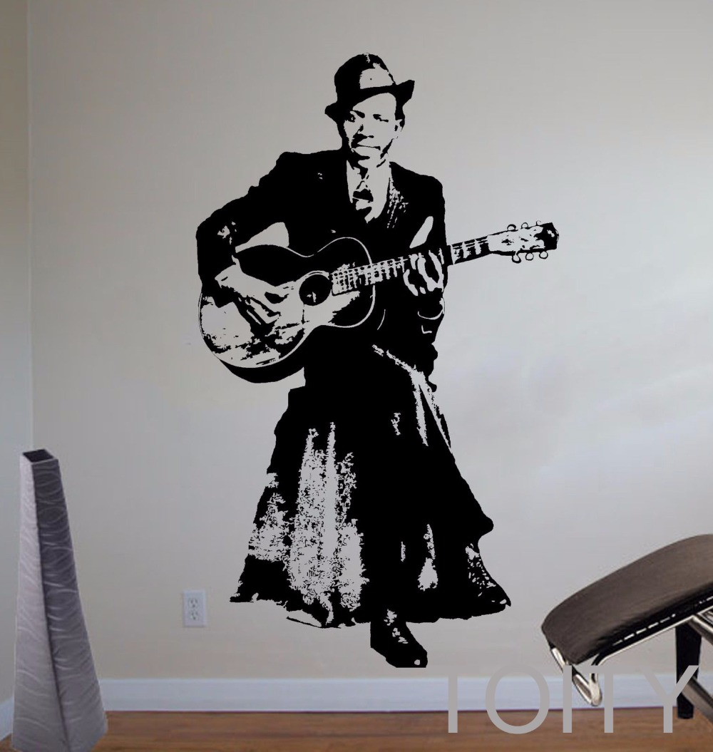 Robert Johnson Wall Sticker Blues Singer Vinyl Decal Music