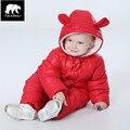 Marca orangemom engrossado inverno snowsuit bebê, jaqueta menino para baixo desgaste neve, 0-3y bebê clothing macacão luva à prova d' água