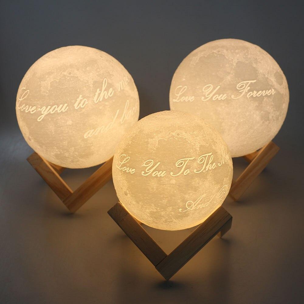 Индивидуальные 3D печатных лунный свет (двойной цветов или 16 цветов) новинка дома романтический украшения 12 см 15 см 20 см 22 см Атмосфера лампы ...