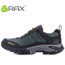 RAX waterproof hiking shoes men outdoor women winter climbing snekaers A558