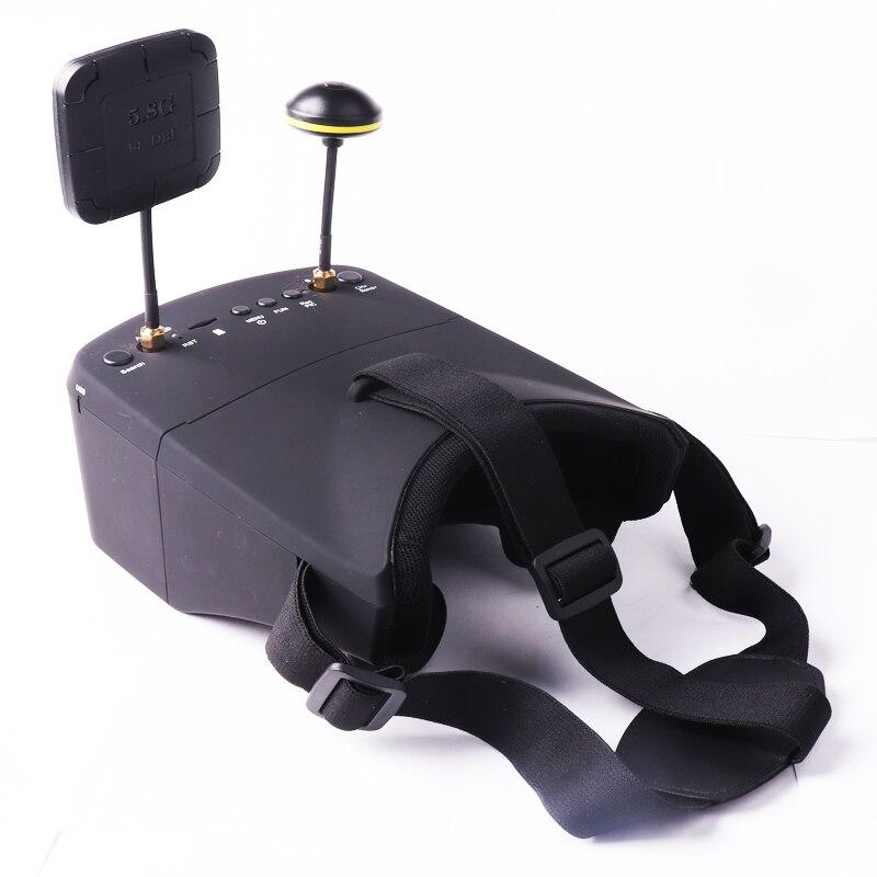 LS-800D VR FPV lunettes 5.8G 40CH 5 pouces 854*480 casque vidéo HD DVR diversité 2000 mAh batterie pour RC modèle échelle avion jeu