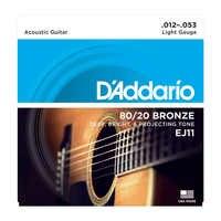 Dario addario daddario bronze/bronze fósforo cordas da guitarra acústica ej10 ej11 ej12 ej13 ej15 ej16 ej17 ej26