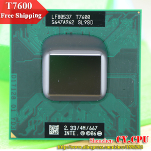 Image 1 - Free Shipping intel CPU laptop Core 2 Duo T7600 CPU 4M Socket 479 Cache/2.33GHz/667/Dual Core Laptop processor