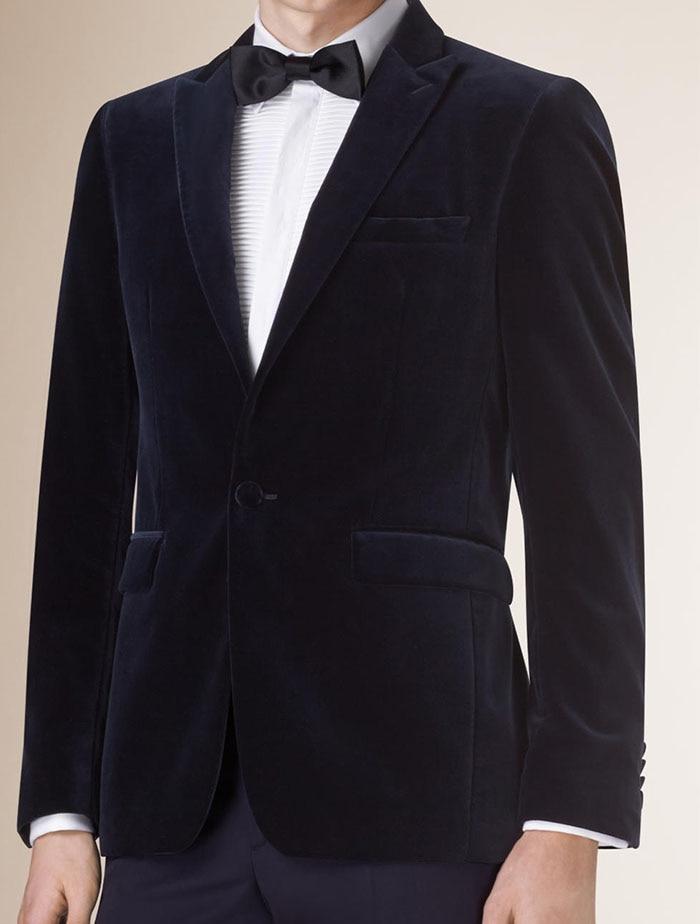 Mens Velvet Blazers Tailor Made Slim Fit Midnight Blue Velvet Blazer Men, Custom Velvet Blazers For Men,Mens Velvet Suit Jacket
