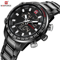 NAVIFORCE Quartz Wristwatches Mens Watches Top Brand Luxury Sport Digital Watch Men Military Clock Stainless Relogio