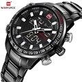 NAVIFORCE кварцевые наручные часы мужские часы лучший бренд класса люкс спортивные военные часы мужские часы из нержавеющей водонепроницаемой ...