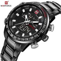 NAVIFORCE Quartz Wristwatches Mens Watches Top Brand Luxury Sport Digital Watch Men Military Clock Stainless Relogio