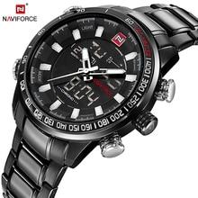 NAVIFORCE Militar Esporte relógio de Pulso de Quartzo Mens Relógios Top Marca de Luxo Relógio Homens Inoxidável Relógio À Prova D' Água relogio masculino