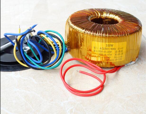 Transformateur d'anneau de fil d'émail de cuivre de 300 W (transformateur toroïdal) transformateur dédié d'amplificateur de puissance