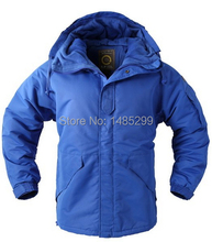 "New Southplay Men's ""Blue Color"" Warming Waterproof 10,000mm Outerwear Hood Double Closed  Jacket"