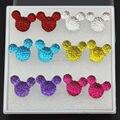 Fashion Girl Women's Lovely 6 Pairs Cartoon Resin Minnie Mouse Stud Earrings Plastic Earrings For Girl Women's Gift YE242