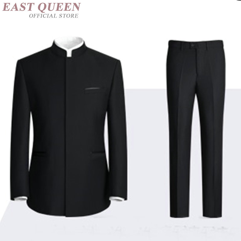 Mandarin collar suit for men tang zhongshan suit    AA4011
