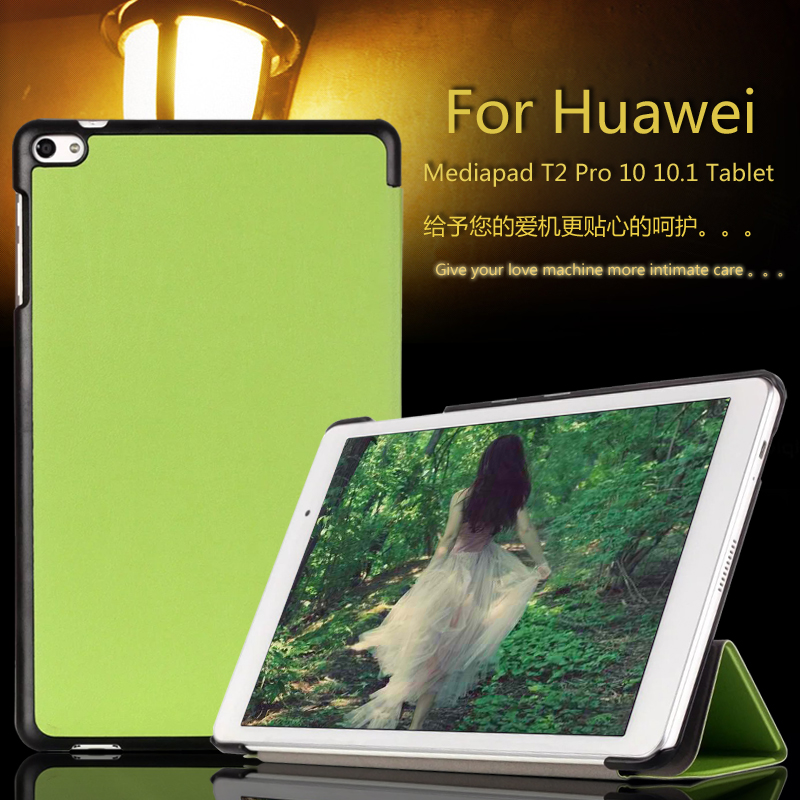 Slim Custer 3-Fold Folio PU Leather Case Flip Cover For Huawei MediaPad T2 Pro 10 FDR-A01W FDR-A03L Tablet Case Smart Cover new fashion pattern ultra slim lightweight luxury folio stand leather case cover for huawei mediapad t2 pro 10 0 fdr a01w a03l