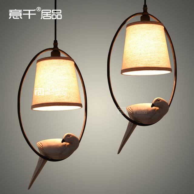 Sotão americano pássaro luz de teto Cafe Bar sala de jantar da lâmpada do corredor de campo varanda