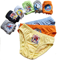 1 unids niños boy underwear historieta encantadora del patrón de algodón tres bragas ángulo multicolor cómodo niños edad 2 t-10 t años
