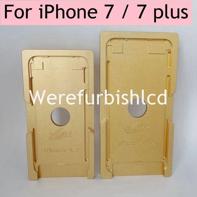 Переднее стекло с рамкой кадра металлической формы ЖК-Позиционирование выравнивание формы для iPhone 5 5s 5c 6 6 s 6 P 7 Плюс 7 P ЖК-экран ремонт