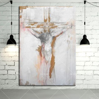 Hand Painted Canvas Oil Painting Abstract Jesus Oil Paints For Wall Decoration Handmade God Christian Oil
