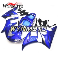 Complete Fairings Kit For Yamaha R6 2005 05 Year Injection ABS Plastics Bodywork Motorcycle Blue Flame Covers Cowlings New Panel