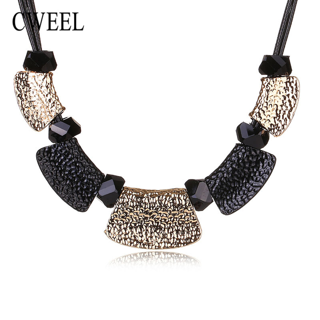 CWEEL Pendants Necklaces Jewelry Women Created Crystal Chokers Wedding Statement Maxi Color Bridal Link Party Dress Accessories