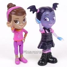 Junior Vampirina The Vamp Batwoman & Friend Poppy PVC Action Figures Girls Toys Gift 8cm 2pcs/set