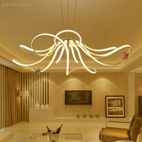 Modern Chandelier Lighting Living Room Bedroom AC 85 265V PC Aluminum Material Creative Home Ceiling Chandeliers