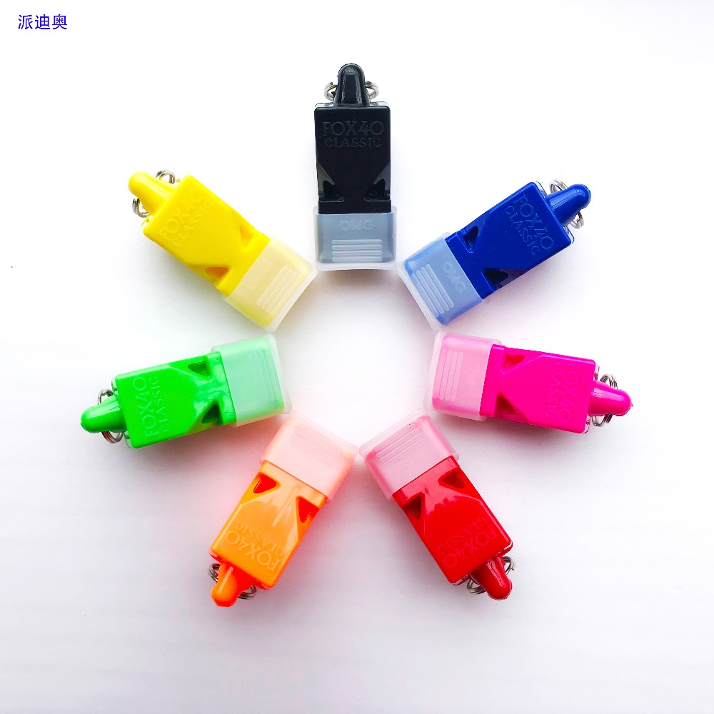 50pcs Lot FOX40 Referee Classic Whistle Basketball Volleyball Football  Tennis Dolphin Whistle Apito With CMG 73baf5dffa8d5