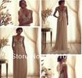 Glamorous V Neck Beaded Sash Empire Maternity Wedding Dresses
