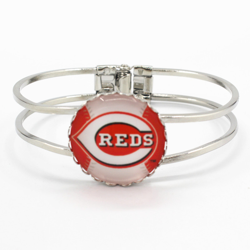 New style silver alloy bracelet sports bracelets team Cincinnati Reds charms for sports  ...
