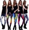 Mujeres leggins 3D Digital de Van Gogh Noche Estrellada Imprimir Polainas de Las Mujeres Ocasionales Flacos Leggings calzas deportivas mujer fitness