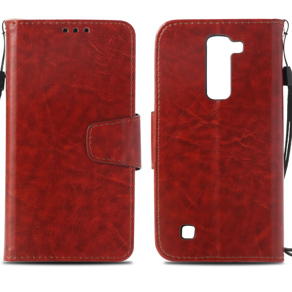 Vintage Flip Case for LG K8 LGK8 K350 E K350E K350N Wallet Card Slot Phone Leather Cover for LG K 8 350 LG-K350E LG-K350N Case