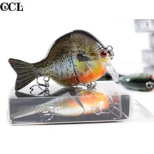 High Quality Bass Fishing Lures Square Bill Floating Swimbait Bluegill Lure 3.5inch 32g New Jointed Baitfish