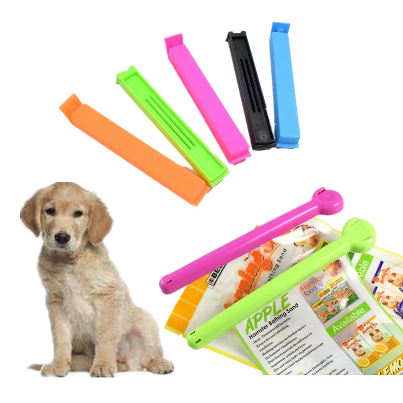 1PC Dog Food Bag Clip Mold-proof Moist-proof Pet Cat Birds Food Bag Preservation Clip Kitchen Trash Can Waste Basket Bag Clips ...