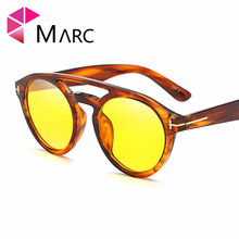 MARC UV400 WOMEN MEN sunglasses Plastic oculos Fashion Goggle gafas eyewear Brand Trend sol Pilot Blue Wrap clear Leopard amber