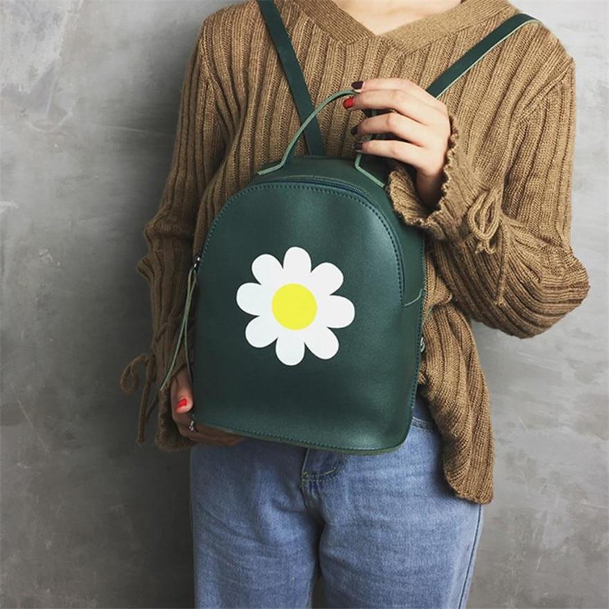 MOLAVE Backpack Girls backpack Solid backpacks female Zipper Women Floral Shoulder Bag Bags Tote Ladies Purse Apr7