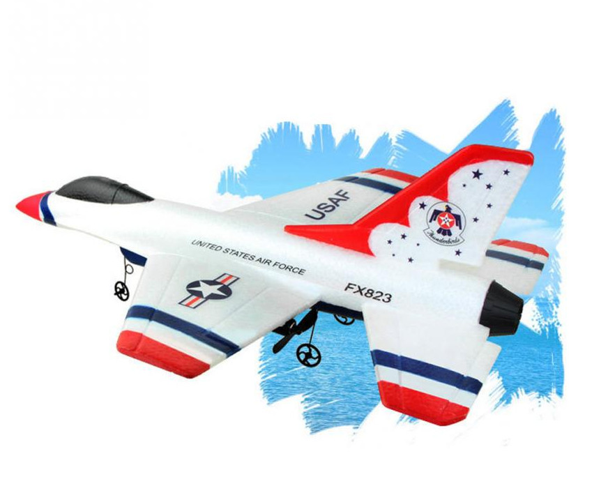 Mini EPP RC Glider toys for children FX-823 2.4G 2CH F16 Thunderbirds Remote Control Airplane