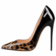 Tailingjia Women Pumps Spring 2017 White Leopard Shoes Extremely High Heels Ladies Stilettos Wedding Shoes Evening Dress Shoes
