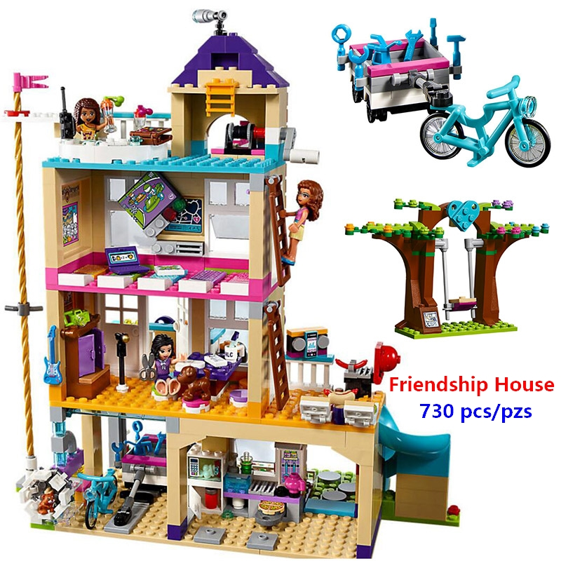 New Friends Girls Series The Friendship House Set Building Blocks Bricks Kids Gifts Compatible With Lego