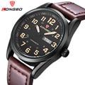 LONGBO Relogio masculino Relojes Para Hombre de Primeras Marcas de Lujo de Cuarzo Ocasional Hombres Reloj Militar Correa de Cuero Relojes Deportivos Impermeables