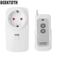 2018 High Quality BGEKTOTH AC 220V RF Remote Control Switch Socket EU Plug 1 A B