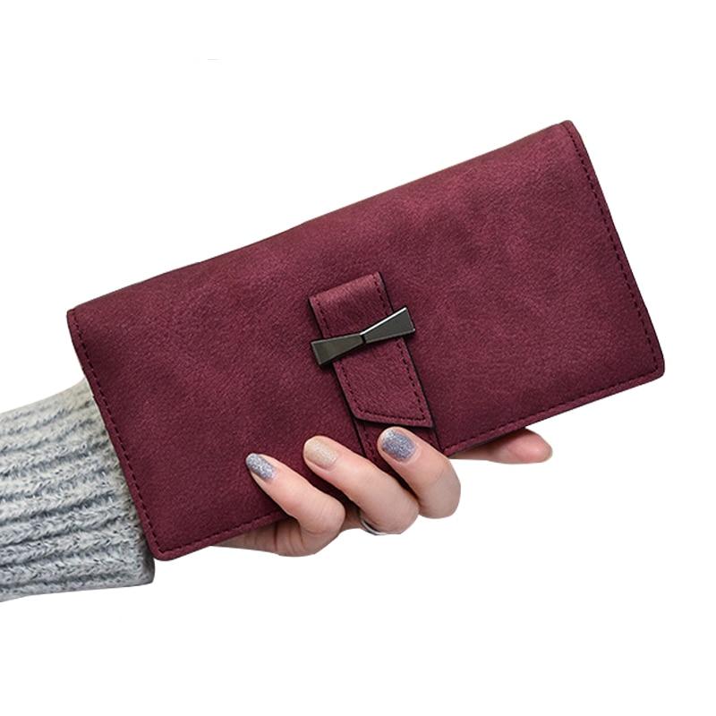 Women Wallet Female Coin Purses Leather Wallet Women Card Photo Holder Belt Hasp Zipper Vintage Long Solid Fashion Women Purse casual weaving design card holder handbag hasp wallet for women