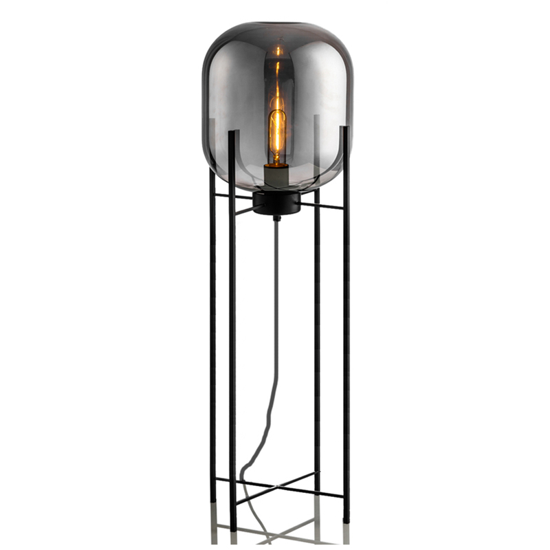Nordic post modern Glass Floor Lamp Light Fashion Design amber gray glass Table lamps home Light Living Room Country House Hotel