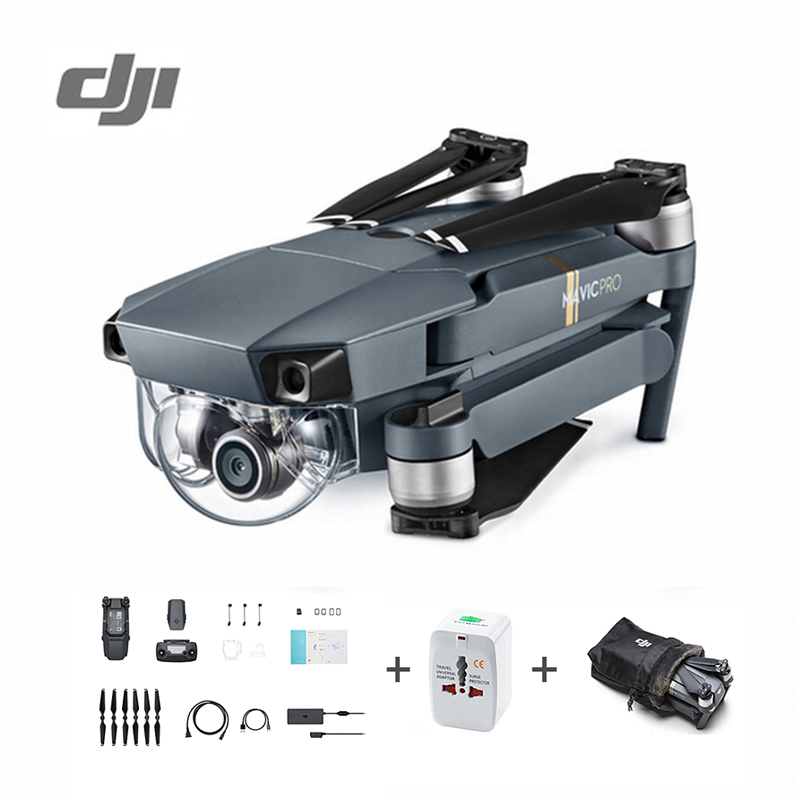 DJI Mavic Pro Drone Set 1080P Camera 4K Video RC Helicopter Drones FPV Quadcopter Official Authorized Distributer Original travel aluminum blue dji mavic pro storage bag case box suitcase for drone battery remote controller accessories
