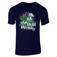 Nowe 2017 Mody Mężczyzna Koszulki Joker Laugh HA HA HA krótki Rękaw T-Shirt T-shirty Casual Fajne Harajuku Funny topy