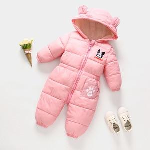 Image 3 - Russische Herfst Winter Pasgeboren Baby Kleding Jumpsuit Warm Jongens Snowsuit Voor Kinderen Hooded Overalls Voor Meisjes Unisex Baby Romper