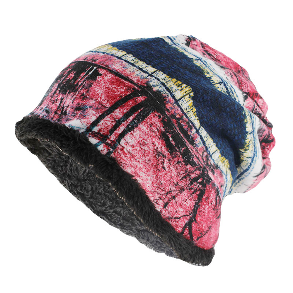 Winter Cap Warm Women Hat Lady Floral   Skullies     Beanies   Scarf Adult Cashmere Hats Casual Soft Winter Hats For Women Bonnet Femme