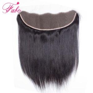 Image 1 - FABC бразильские кружевные фронтальные прямые волосы 13x4 свободная часть от уха до уха 130% плотность Remy волосы Бесплатная доставка 22 дюйма