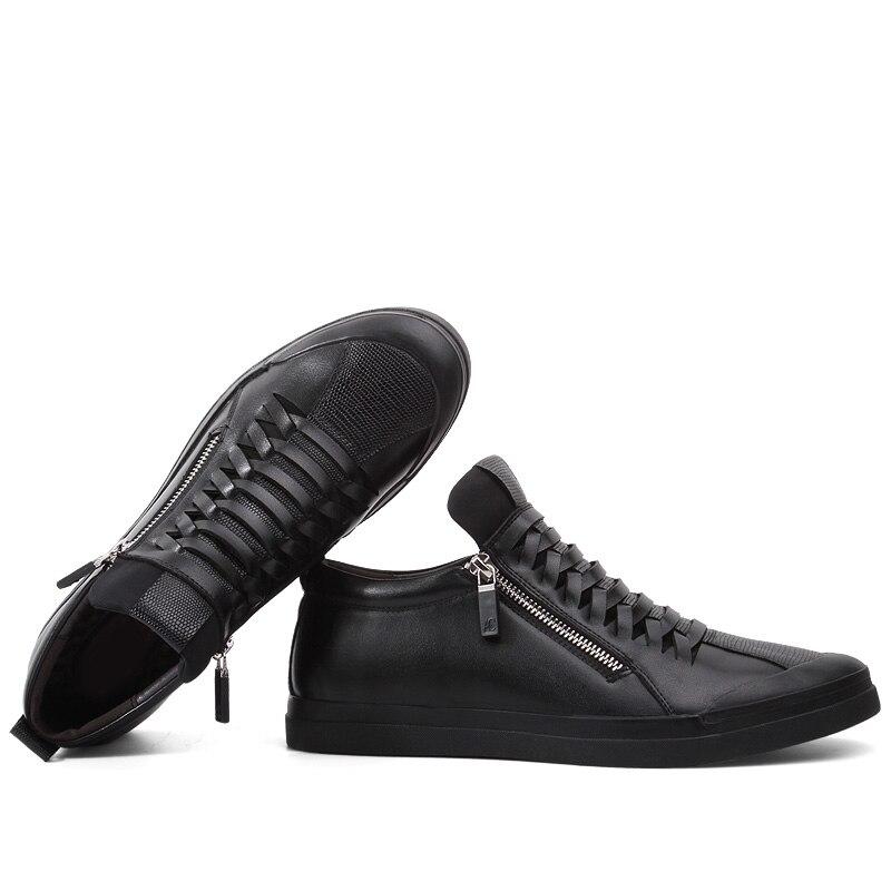 Casual Automne Designer Chaussures De No Marche Hommes Clax Glissière Printemps Fur Doux Fur Mens En Black Mode À Cuir black Sw5nOq4O