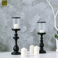 Wedding Candlestick Glass Candle Holder Alloy Pillar Candle Holders Decorative Table Candelabra Kandelaars Home Decor QKL046