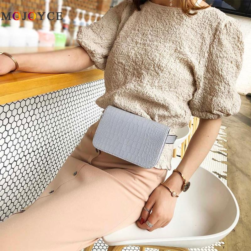 7.09 X 4.72 X 1.97 Inches Women PU Leather Waist Packs Fashion Flap Belt Bag Vintage Fanny Pack Handbag